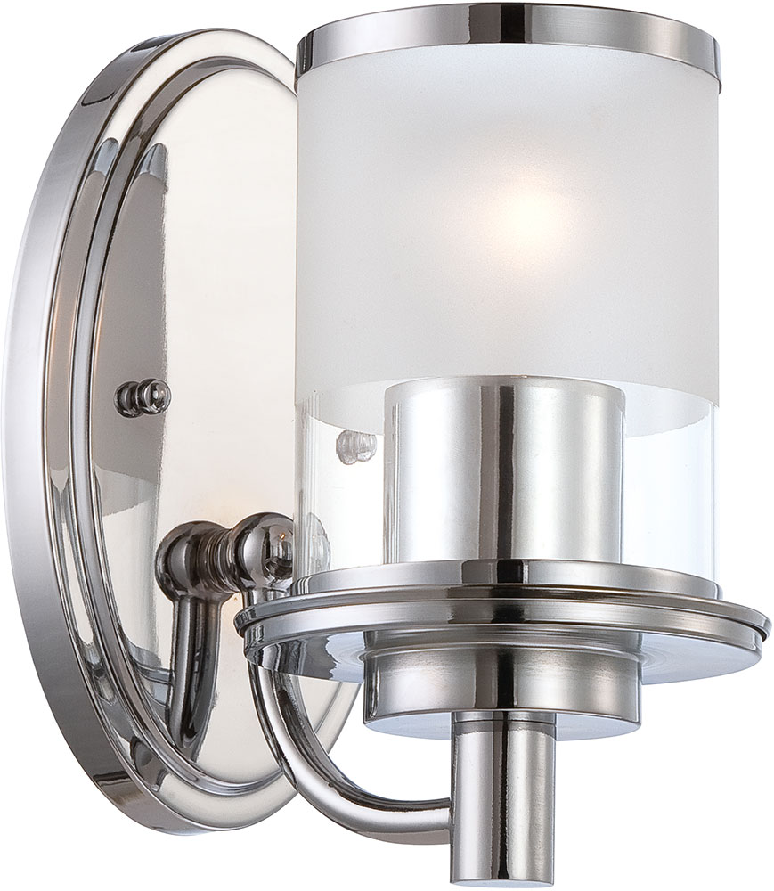 Modern Chrome Wall Sconces : Designers Fountain 6691-CH Essence Modern Chrome Wall Sconce Lighting - DSF-6691-CH