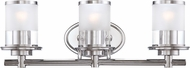 Designers Fountain 6693-CH Essence Contemporary Chrome 3-Light Bath Lighting Sconce