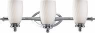 Designers Fountain 6703-CH Belize Modern Chrome 3-Light Bathroom Lighting