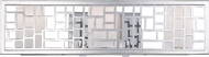 Designers Fountain 6723-CH Trellis Contemporary Chrome 3-Light Bathroom Lighting Fixture