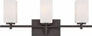 Designers Fountain 6733-BBR Dakota Biscayne Bronze 3-Light Bath Lighting Fixture