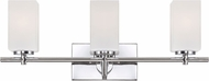 Designers Fountain 6733-CH Dakota Chrome 3-Light Bathroom Light Fixture