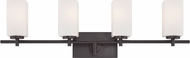 Designers Fountain 6734-BBR Dakota Biscayne Bronze 4-Light Bathroom Vanity Lighting