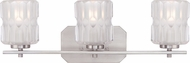 Designers Fountain 67603-SP Valeta Satin Platinum 3-Light Vanity Lighting Fixture