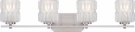 Designers Fountain 67604-SP Valeta Satin Platinum 4-Light Bathroom Vanity Light Fixture