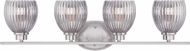 Designers Fountain 67704-SP Sonata Satin Platinum 4-Light Bath Wall Sconce