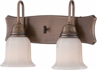 Designers Fountain 68002-OSB Astor Old Satin Brass 2-Light Bathroom Sconce Lighting