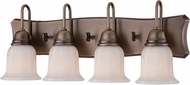 Designers Fountain 68004-OSB Astor Old Satin Brass 4-Light Bathroom Wall Light Fixture