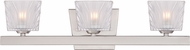 Designers Fountain 68103-SP Volare Satin Platinum Halogen 3-Light Bathroom Lighting