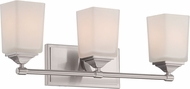 Designers Fountain 68603-SP Corbin Satin Platinum 3-Light Bathroom Light