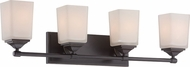 Designers Fountain 68604-OEB Corbin Old English Bronze 4-Light Bathroom Lighting Fixture