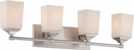 Designers Fountain 68604-SP Corbin Satin Platinum 4-Light Vanity Lighting