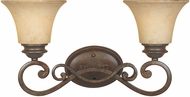 Designers Fountain 81802-FSN Mendocino Forged Sienna 2-Light Vanity Light