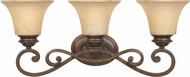 Designers Fountain 81803-FSN Mendocino Forged Sienna 3-Light Bath Light Fixture