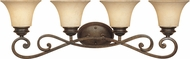 Designers Fountain 81804-FSN Mendocino Forged Sienna 4-Light Bath Lighting Fixture