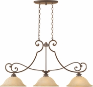 Designers Fountain 81838-FSN Mendocino Forged Sienna Island Lighting
