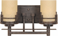 Designers Fountain 82102-WM Mission Ridge Warm Mahogany 2-Light Bathroom Light Fixture