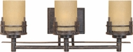 Designers Fountain 82103-WM Mission Ridge Warm Mahogany 3-Light Bathroom Vanity Lighting