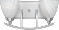 Designers Fountain 82902-SP Tackwood Satin Platinum 2-Light Bath Sconce
