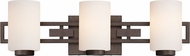 Designers Fountain 83803-FBZ Del Ray Flemish Bronze 3-Light Lighting For Bathroom
