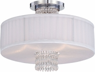 Designers Fountain 83911-CH Candence Chrome Flush Mount Light Fixture
