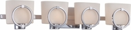 Designers Fountain 84004-CH Mirage Contemporary Chrome 4-Light Vanity Light