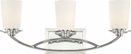 Designers Fountain 84203-CH Palatial Contemporary Chrome 3-Light Bathroom Light Fixture