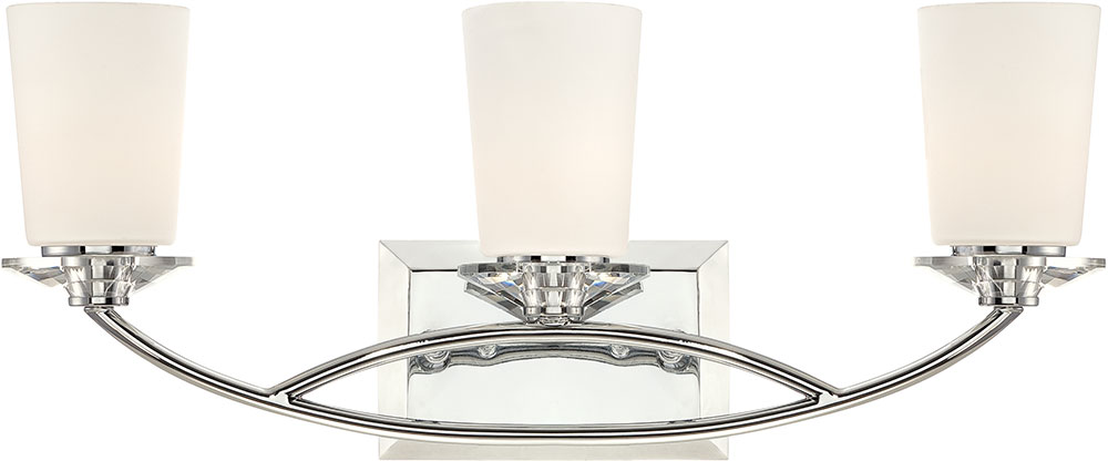 Designers Fountain 84203 Ch Palatial Contemporary Chrome 3 Light Bathroom Light Fixture Dsf