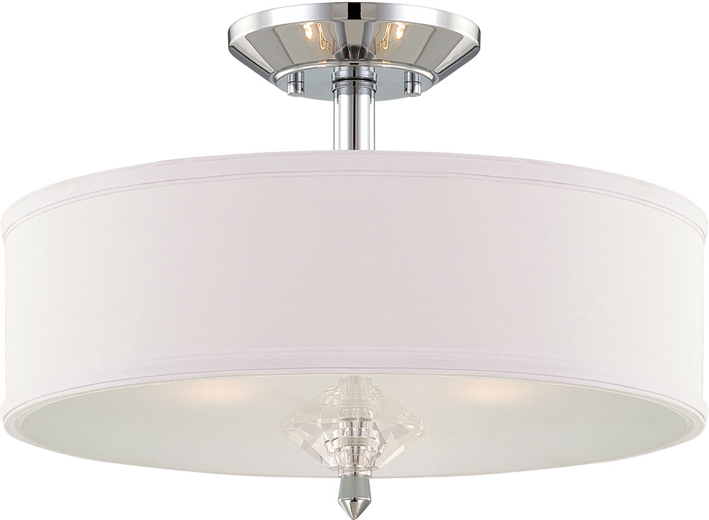 Designers Fountain 84211 Ch Palatial Contemporary Chrome Flush Ceiling Light Fixture Dsf 84211 Ch