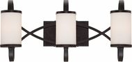 Designers Fountain 84403-ART Bellemeade Contemporary Artisan 3-Light Bathroom Vanity Light