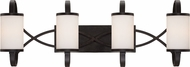 Designers Fountain 84404-ART Bellemeade Modern Artisan 4-Light Bathroom Sconce