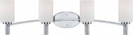 Designers Fountain 84504-CH Cordova Modern Chrome 4-Light Vanity Light Fixture