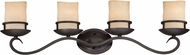 Designers Fountain 84704-NI Lauderhill Natural Iron 4-Light Bathroom Vanity Light Fixture