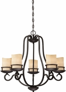 Designers Fountain 84785-NI Lauderhill Natural Iron Ceiling Chandelier