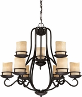 Designers Fountain 84789-NI Lauderhill Natural Iron Hanging Chandelier