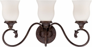 Designers Fountain 84803-BU Helena Burnt Umber 3-Light Bathroom Wall Sconce