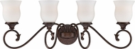 Designers Fountain 84804-BU Helena Burnt Umber 4-Light Bath Wall Sconce