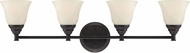 Designers Fountain 85104-ORB Kendall Oil Rubbed Bronze 4-Light Lighting For Bathroom