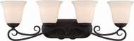 Designers Fountain 85204-ORB Addison Oil Rubbed Bronze 4-Light Bathroom Lighting Fixture