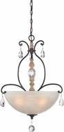 Designers Fountain 85331-DA Bella Maison Distressed Ash Pendant Lighting