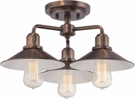 Designers Fountain 85411-OSB Newbury Station Old Satin Brass Ceiling Light Fixture