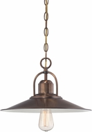 Designers Fountain 85432-OSB Newbury Station Old Satin Brass Pendant Lamp