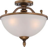 Designers Fountain 85611-ABS Isla Aged Brass Flush Mount Lighting