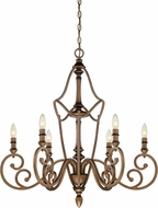 Designers Fountain 85686-ABS Isla Aged Brass Chandelier Lighting