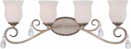 Designers Fountain 86004-ARS Gala Argent Silver 4-Light Vanity Light Fixture