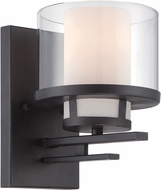 Designers Fountain 86101-BBR Fusion Modern Biscayne Bronze Lamp Sconce