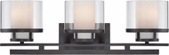 Designers Fountain 86103-BBR Fusion Contemporary Biscayne Bronze 3-Light Vanity Lighting Fixture