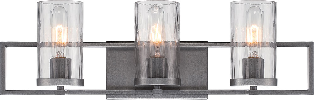 Designers Fountain 86503 Cha Elements Contemporary Charcoal 3 Light Bathroom Light Sconce Dsf