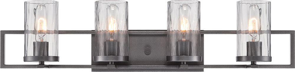 Designers Fountain 86504 Cha Elements Modern Charcoal 4 Light Bathroom Lighting Sconce Dsf