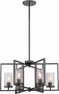 Designers Fountain 86586-CHA Elements Modern Charcoal Mini Chandelier Lighting